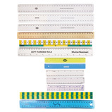 RULER WOODEN 30CM METRIC CM/MM PK10