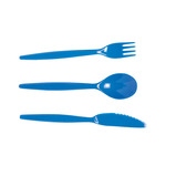 ANTIBAC STD FORK MED BLUE - EACH