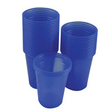 Blue Disposable Water Cups & Straws