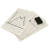 Value Mini Whiteboards with Grid Squares Kit