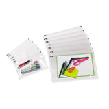 RECYCLED ZIP WALLETS A4 PK5