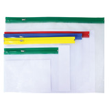 Plastic Zip Wallets - Assorted
