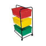 TUBULAR TROLLEY FOR DEEP TRAYS