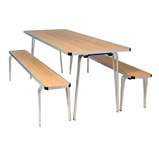 CONTOUR TABLE 610X1520X508 GY DOT