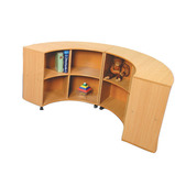 Curve In - Shelves Outside