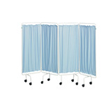 White Screen Frame with Curtains