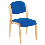 EXPRESS VALUE WOODEN ARMCHAIR BLUE